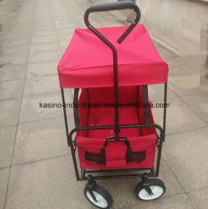 High Quality Portable Foldable Beach Wagon Cart with Canopy pictures & photos