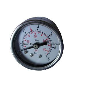 Full Stainless Steel Back Connection Pressure Gauge