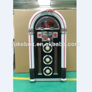 Floor-Standing Jukebox with 7 Colors LED Light, SD/USB Function, Bluetooth  Function, and Radio Function