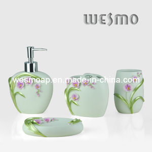 Floral Painting Polyresin Bath Coordinates Set pictures & photos