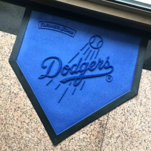 Rubber Backed Sport Team Promot Promotional Gifts Advertising Event Giveaways Dodgers Printing/Print Dye Sublimation Indoor Outdoor Door Floor Mats pictures & photos
