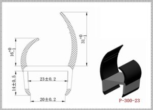 Replaceable PVC U Shape Lorry Door Seals P-300-23