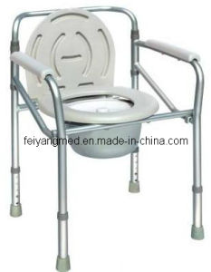 Height Adjustment Non Shining Silver Aluminum Commode Chair pictures & photos