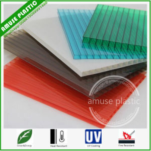 China Lexan Polycarbonate Roofing Twin Wall Hollow Sheet 10mm