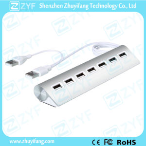 High Grade Aluminum Design 7 Port USB Hub 3.0 (ZYF4104)
