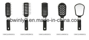 Black Color Mini Plastic Professional Hair Brush pictures & photos