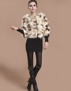 2014 Winter New 100% Genuine Women′s Short Slim Natural Raccoon Fur Multi Colors Fur Coat