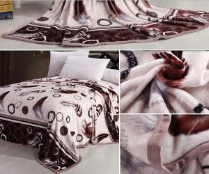 Wholesale Top Quality Rotary Prints Flannel Fleece Blanket pictures & photos