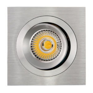 Lathe Aluminum GU10 MR16 Square Tilt Recessed LED Ceiling Light (LT2305B) pictures & photos