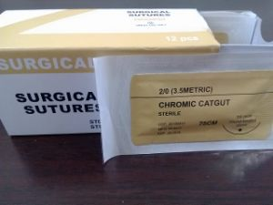 Medical Supply, Absorbable Surgical Sutures Plain Catgut Thread USP3/0 pictures & photos