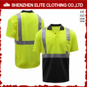 High Quality Fluorescent Green Short Sleeve Work Polo Shirts (ELTSPSI-17) pictures & photos