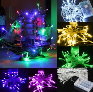 2m20LED/3m30LED/4m40LED/10m100LED Battery Operated Decorative Silver Wire String Light