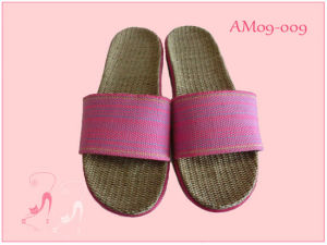 New Hot Linen Summer Open PVC Slippers pictures & photos