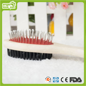 Wood Handle Comb Double Needle Pet Product pictures & photos