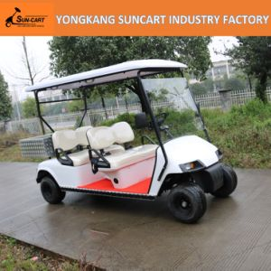 Ce 4 Seater Park Golf Cart Electric for Sightseeing, Utility Golf Car with Aluminium Cargo Box