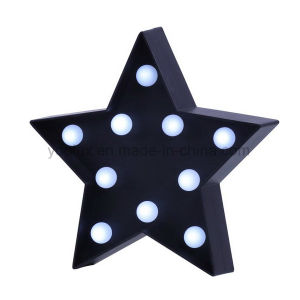 china battery operated star shape symble vintage marquee led lights