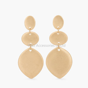 Fashion Latest Hoop Pendant Gold Earring Designs Jewelry