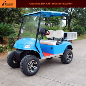 2 Passenger Electric Transport Golf Cart with Rear Cargo Box