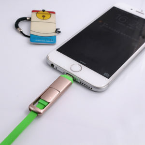 Micro USB 2 In1 Cable Charger and Data Sync Cable for Andriod Mobile and iPhone pictures & photos