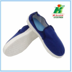 ESD Antistatic Blue Canvas Working Shoe for Cleanroom pictures & photos