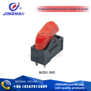 Kcd1-305 Hair Dryer Rocker Switch/ Electrical Rocker Switch/ Safety Oval Switch 250V AC pictures & photos