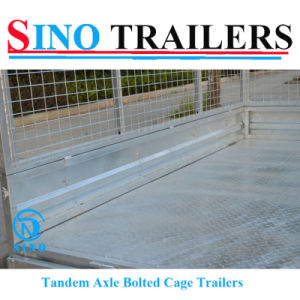 7X4 Bolted Box Trailer with Mesh Cage
