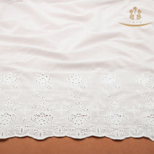 H10017 Flower High Quality Cotton Elastic Lace Fabric