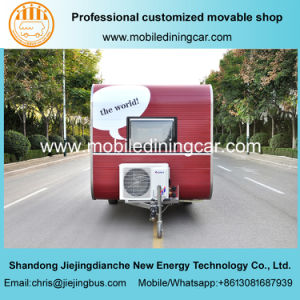 Red Jiejing Made Caravan Mobile Trailer for Travelling pictures & photos