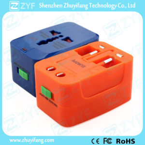 Various Colors All-in-One Plug Adapter with Logo (ZYF9011)