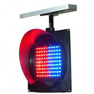 Solar Traffic Warning Light with Red and Blue LED Flashing pictures & photos
