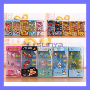 Cheap Promotion Gift in Earphones Animal Cartoon Cute Despicable Me Earphone Superman Monkey Hearphone Headset for Mobile Phone MP4 pictures & photos