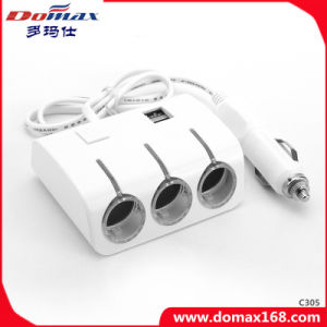 Car Accessories USB Charger 3 Sockets Electronic Smocking Lighter pictures & photos
