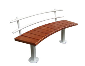 China Curved Outdoor Plastic Wooden Garden Bench China Outdoor