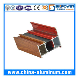 Wood-Grain Transfer Aluminum Window Profile
