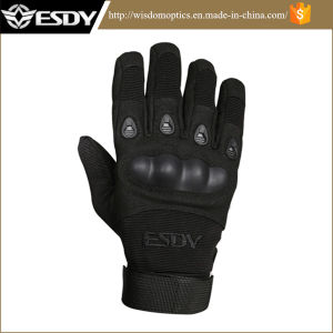 Outdoor Full Finger Tactical Airsoft Military Hunting Gloves Black pictures & photos