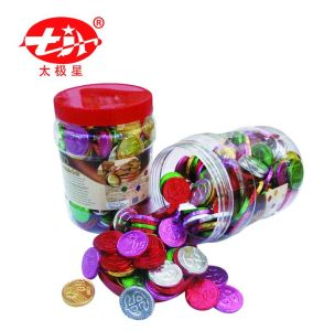 Gold Coin Chocolates Packed in Plastic Bottle pictures & photos