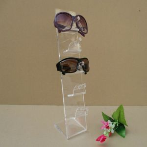 L Shape Acrylic 5 Eyeglasses Display Rack, 5 Pairs Eyewear Display Stand pictures & photos