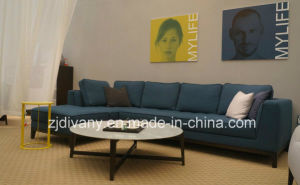 Modern Sofa Fabric Leather Sofa Set (D-68) pictures & photos