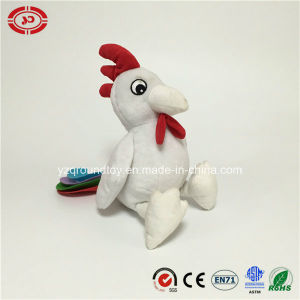 White Rooster Felt Tail White Plush Soft Stuffed Sitting Toy pictures & photos