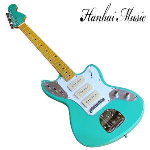 China Hanhai Music Jaguar Style Sky Blue Electric Guitar With 3