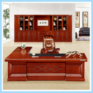 China Furniture Solid Wood Executive Office Large Desk