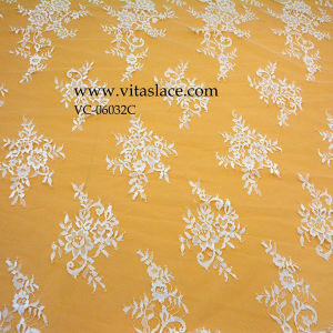 3m*1.5m White Polyester Lace for Table Cloth Vc-06032