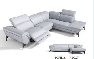 Modern Leather Recliner Sofa with Italian Leather