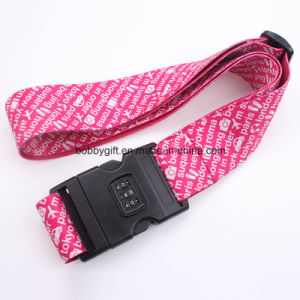 Heat Transfer Printing Polyester Luggage Belt with Password Lock pictures & photos