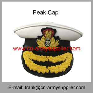 0bcc6f3523957 Wholesale Cheap China Army Metal Police Military Service Peak Cap ...
