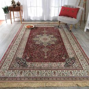 Chinese Handmade Kashan Wool Silk Rug Persian Style Carpet Hand Knotted Rugs And