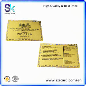 2015 Hot Gold Custoomized Business Metal Name Card
