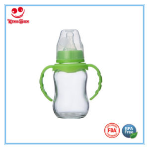 Arc Shaped Glass Baby Bottles for Newborns 8 Oz pictures & photos