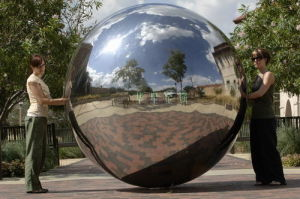 China Large Hollow Stainless Steel Sphere (HM 002)   China Sphere  Decorative Balls, Decorative Garden Balls