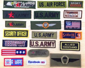 Washable Customed Embroidery Military Emblems pictures & photos